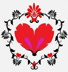 heart shaped butterfly vector image vector image