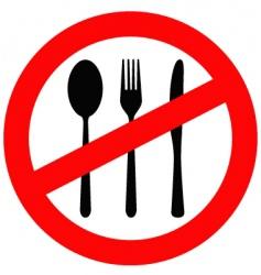 no eating sign vector image