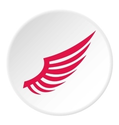 Red wing icon flat style vector image vector image