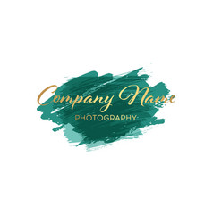 brush logo design template for corporate vector image vector image