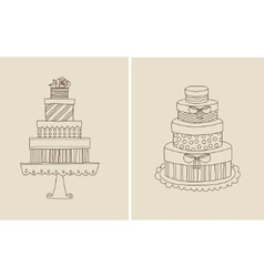 cake and giflts vector image vector image