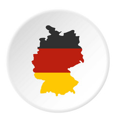 germany map with national flag icon circle vector image vector image