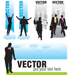 set people activites banners vector image vector image