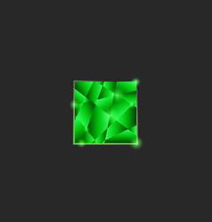 square logo futuristic design element template vector image vector image