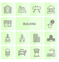 14 building icons vector