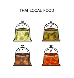 4 hot food bags vector image