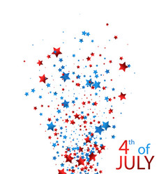 4th july background with stars vector image