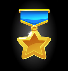 a gold medal icon for the vector image