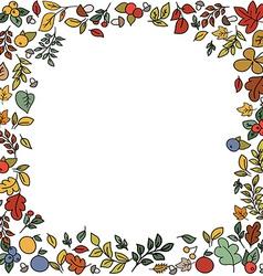 Autumn beauty card vector image