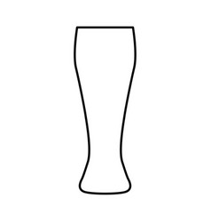 beer glass black color icon vector image
