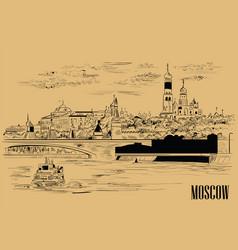 Beige moscow-3 vector
