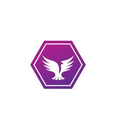bird dove open wings flying logo design pigeon vector image