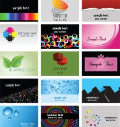 business card designs vector image