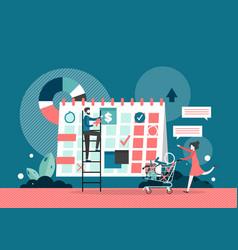 calendar planning concept flat style design vector image