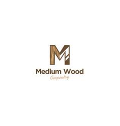 Capenter industry logo design - wood log circular vector