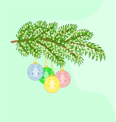 Christmas decoration branch vector image