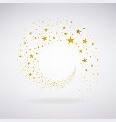 Circulation of Gold Stars vector image vector image