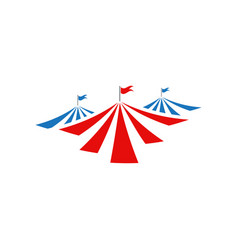 Circus tent graphic design template isolated vector