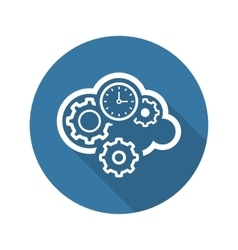 Cloud Processing Icon Flat Design vector