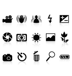 collection of dslr camera symbol vector image