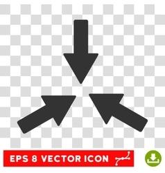 Collide Arrows Round Eps Icon vector