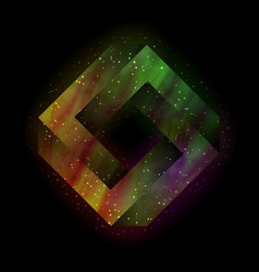colorful impossible square vector image