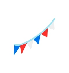 Colorful party flags for Independence day icon vector