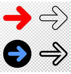 composition of gradiented dotted right direction vector image
