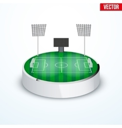 Concept of miniature round tabletop football vector image