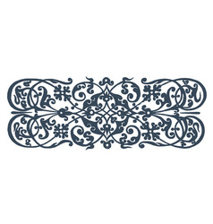concept of ornament blue on vector image