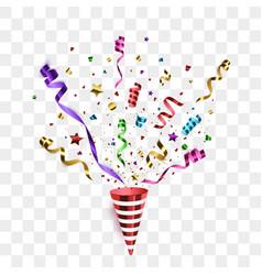 confetti isolated festive background vector image