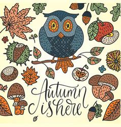 cozy fall autumn vector image