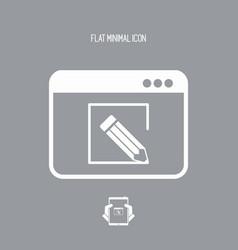 Customized web services icon vector