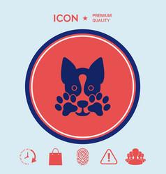cute dog paw - logo symbol protect sign vector image