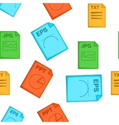 Document types pattern cartoon style vector image