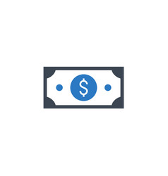 Dollar flat related glyph icon vector