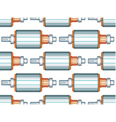 Electric motor rotor pattern vector