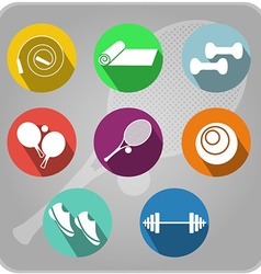 Fintess icons vector image