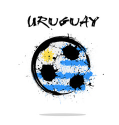 Flag of uruguay as an abstract soccer ball vector