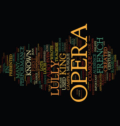 French opera text background word cloud concept vector