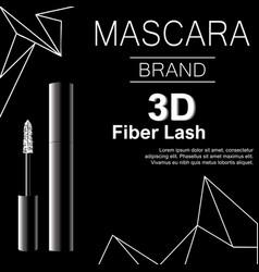 glamorous mascara for eyelashes black realistic vector image