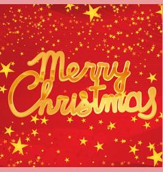 golden shiny merry christmas vector image