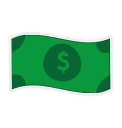 Green bill icon Money design graphic vector