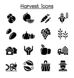 harvest icon set vector image