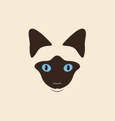 Head siamese cat vector