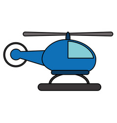 Helicopter transport fly image vector