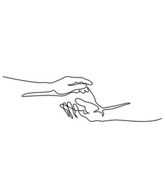 Holding man and woman hands together vector