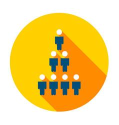 human population circle icon vector image