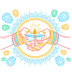 indian holiday vector image