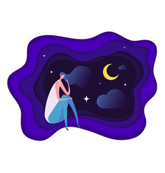 Insomnia problem fatidue sleep disorder concept vector